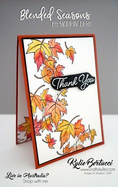 Stampin' Up! Fall Cards, Holiday Cards, Christmas Cards, Card Making Inspiration, Making Ideas, Leaf Cards, Stamping Up Cards, Rubber Stamping, Watercolor Cards