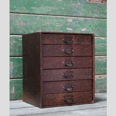 A set of vintage stationery drawers