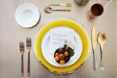 veggie plate setting