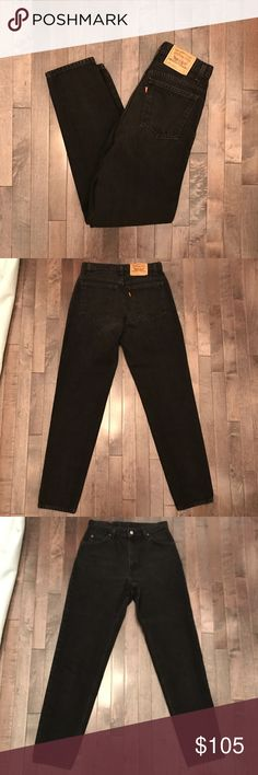 """Vintage Levi's 950 black high waist jeans Very hard to find vintage Levi's 950 high waisted jeans. Has 30"""" waist and very slim through the hips. Best fit for a modern jean size 28-30 depending on desired fit. In pristine vintage condition!!!!!!!!!😃😃 Levi's Jeans Skinny"""