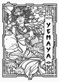Yemaya - Yoruban Goddess of the Ocean  © 2010 Renée Christine Yates-McElwee