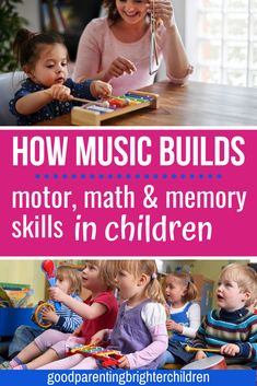 Here are 12 activities using music & classical music with kids to increase early math & language development motor skills and memorization. Powerful music ideas to help kids toddlers preschoolers and special needs children. Music Activities For Kids, Music For Kids, Learning Activities, Kinesthetic Learning, Learning Tips, Kids Learning, Learning Music, Early Learning, Music And The Brain