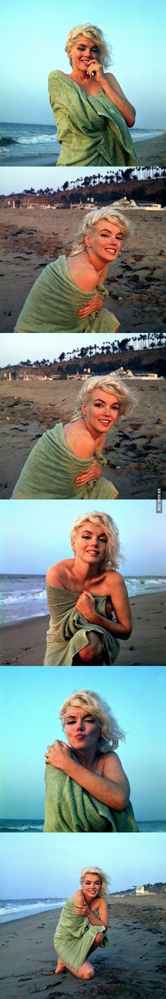 These are natural & gorgeous. #MarilynMonroe #beach #photoshoot