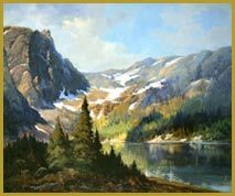 Robert Wood Payne Lake, California art painting for sale; Shop your favorite Robert Wood Payne Lake, California painting on canvas or frame at discount price. Landscape Art, Landscape Paintings, Landscapes, Painting On Wood, Wood Paintings, Nature Paintings, Robert Wood, Art Paintings For Sale, California Art
