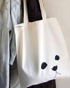 Screen Print Seal Pup Tote Bag by BeckyGarratt on Etsy, £8.00