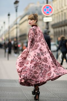 Anna Kukh, on the street at the Dior fashion show in Paris during Paris Fashion Week, Ready to Wear Fall/Winter 2016/2017 on March 4, 2016