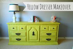 Huckleberry Love: Yellow Dresser Makeover