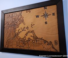 Scale Map, Unique Gifts, Best Gifts, Third Anniversary, Custom Map, Leather Craft, The Fosters, Hand Carved, Vintage World Maps
