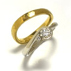 ordermade,yellow-gold(marriage ring),platinum(engagement ring),diamond,  http://www.concept-jw.jp/works_eng/works_engage_28.html