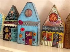 How to Make a Mixed Media Wooden  House - YouTube