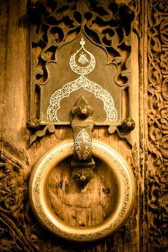Door knocker, Khiva Ark, Khiva, Khorezm. (photo by Christopher Rose, 2013).