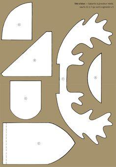 letter/lettre/élan/cerf/tête/collage/fiche/NOEL/PAPA/PERE/DECORATION/carte/card/atc/activité/manuelle/carton/table/recette/gif/disney/jouet/ - MASSILIA - SERVIETTE à gogo + LOISIRS CREATIFS