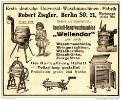 Original-Werbung/ Anzeige 1911 - WASCHMASCHINEN - FABRIK ZIEGLER - BERLIN - ca. 90 x 75 mm