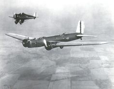 Y1B-9 bomber and a Boeing P-26 from Wright field.