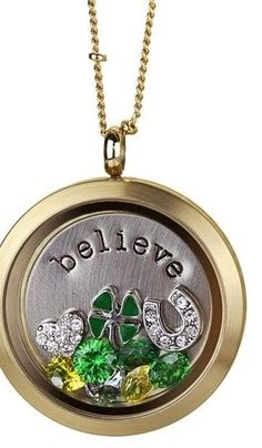 http://www.hooting4chicago.origamiowl.com   St. Patrick's Day locket!  Four leaf clover, lucky, green, horseshoe