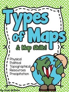 This+is++a+packet+of+worksheets+with+different+types+of+maps.+(Population+map,+precipitation+map,+political+map,+natural+resource+map,+physical+map)There+is+also+a+page+with+a+matching+activity+for+parts+of+the+map.+A+note+page+is+also+included.+My+students+really+enjoyed+this+lesson!