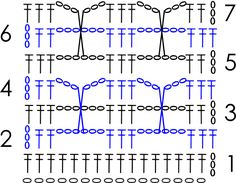 crochet chart for papillon scarf