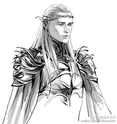Still old fanarts about Thranduil and Legolas. Trying to draw some dark sides of the elf. Fellowship Of The Ring, Lord Of The Rings, Lotr, Legolas Und Thranduil, Elf Drawings, Elf King, O Hobbit, Great King, Fantasy Fiction