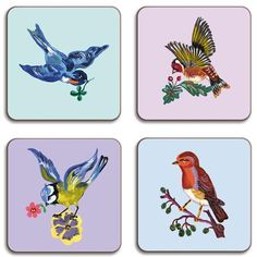 Birds Coasters By Nathalie Lete