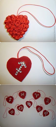 Подвески - сердца на мобильный.Маленький сувенир ко дню Святого  |Валентина. :)))