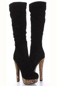 blackkkk Stunning Boots