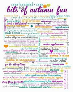 fall fun 101 things. I should see how many we can do :)
