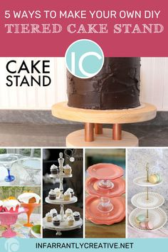 While I was researching different ideas for this project, I came across dozens of terrific ideas anyone could use to DIY a tiered dessert stand. The possibilities for these stands are literally limitless! You can find a tutorial for any skill level, style, size, or shape! And I think I've demonstrated pretty effectively that these stands are pretty versatile! Along with entertaining, they can be used to display craft supplies, spices, makeup, and seasonal decor. Diy House Projects, Diy Wood Projects, Easy Diy Crafts, Fun Crafts, Tiered Dessert Stand, Diy Paper, Homemade Gifts, 5 Ways, Seasonal Decor