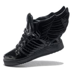 newest collection b81a0 6d7dc Jeremy Scott Angel Wings Black wings shoes,wedge sneakers,skateboard... ❤