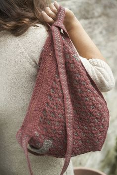 Ravelry: Backpack Handbag pattern by Meg Crowther
