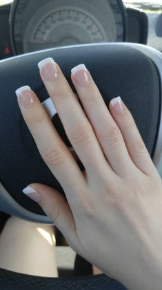 french nails wedding Tips in 2020 White Tip Acrylic Nails, Square Acrylic Nails, French Tip Nail Designs, Short Nail Designs, Design Ongles Courts, Do It Yourself Nails, Beauty Nail, Beauty Tips, Beauty Products