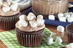 Hot Cocoa-Marshmallow Cupcakes recipe