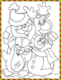 Fun images and techniques Catia Handicrafts Colouring Pics, Coloring For Kids, Coloring Books, Tole Painting, Fabric Painting, Christmas Clipart, Christmas Crafts, Pattern Coloring Pages, Christmas Drawing