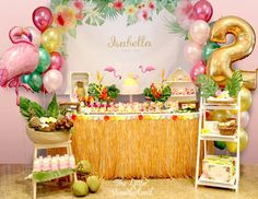 Hawaiian Flamingo Birthday Celebration | Pretty My Party