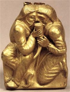 A Scythian gold statuette depicting the ritual of brotherhood (from the Kul Oba kurhan).