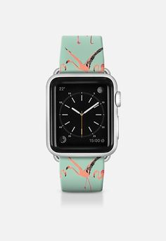 flamingos mint apple watch band @Casetify #flamingos #mint #apple #watch #band #casetify #sharonturner #strap ~ get $10 off using code: 5A7DC3