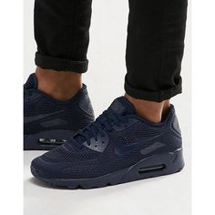 online retailer b0d9a bdd2c Nike Air Max 90 Ultra Breathe Sneakers 725222-401 ( 155) ❤ liked on