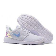 8364249282a7 Nike Roshe Run Mesh White Black Hologram Iridescent Shoes