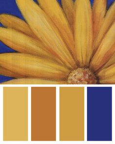 Yellow Color Palette Inspired By: Yellow Daisy, Art Print by Julio Sierra