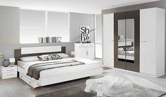 Chambre adulte complète BORBA blanc et gris lave: http://www.basika.fr/meuble-chambre-adulte-complete.htm