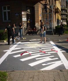 The Zebra Crossing Project by Eduard Čehovin, The zebra crossing was commissioned by the Museum of Contemporary Art of Vojvodina in Novi Sad for the road outside its entrance.