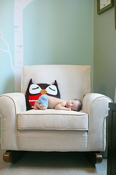 Woodland Creature Nursery - love the wall decals and rocker!