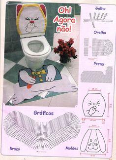 jogo de banheiro passo a passo de croche - Pesquisa Google