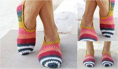 Easy, comfortable and eye-catching. Is there anything more you can want from slippers? Surely not! The On Point Slippers Pattern is available in several sizes from 5 to 10 1/2 US (35-43 EU), so that everyone can own their own pair! The pattern includes details about the yarn used in each.