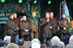 Magdeburgs Oberbürgermeister Dr. Lutz Trümper (SPD) eröffnet die Meile der Demokratie 2013