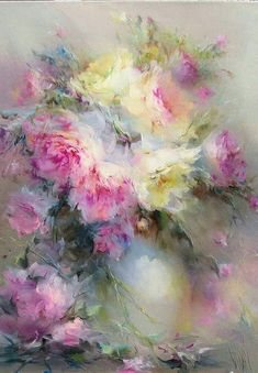 Original Floral Painting by Olga Zueva Oil Painting Flowers, Abstract Flowers, Watercolor Flowers, Watercolor Paintings, Beautiful Paintings, Art Oil, Painting Inspiration, Art Pictures, Flower Art