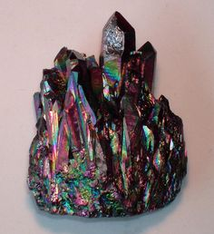 Flame aura Quartz  Douglas Manning ❦ CHRYSTALS ❦ semi precious stones ❦