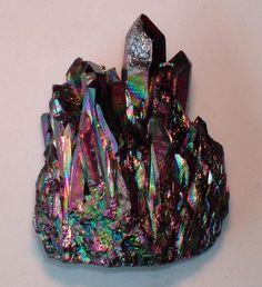 Flame Aura Quartz // Crystal Fairy Vibes