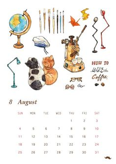 Paint Calendar, Graphic Illustrations, 9 And 10, Comics, Wedding, Painting, Art, Valentines Day Weddings, Art Background