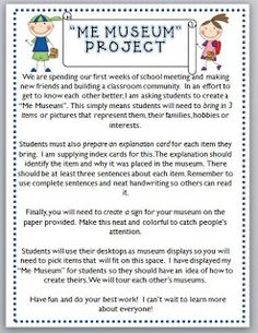 Me Museum Project - Beginning of the year