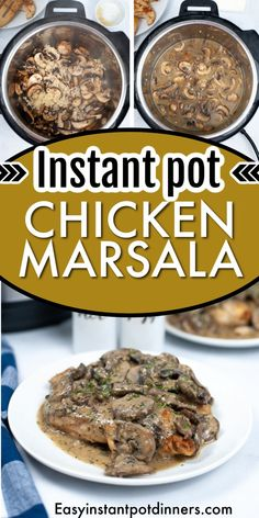 Have you ever been to a restaurant and eaten something so delicious that it just feels like it melts in your mouth? Well, this Instant Pot chicken Marsala is one of those dishes that you just can't get enough of. Stuffed Mushrooms, Boneless Chicken Thighs, Chicken Marsala, Chicken Cutlets, Melt In Your Mouth, Frozen Chicken, Creamy Sauce, Pressure Cooking